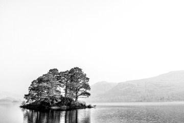 Island on Derwentwater Black&White monochrome Lake District
