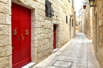Mdina: Door of Palazzo in Silent City Malta for Thursday Doors Challenge