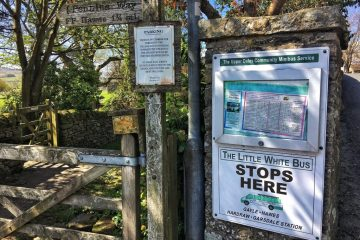 Yorkshire Dales, Little white bus, Pennine way, public transport, Hawes to Hardraw
