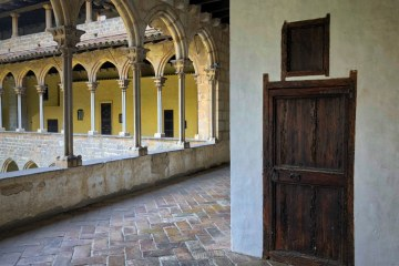 Gothic Monastery of Pedralbes Barcelona cell door Thursday doors