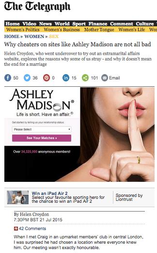 cheaters on ashley maddison