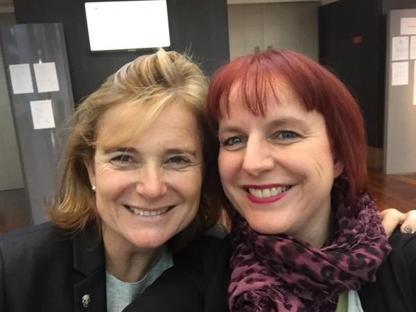 Avec Anne Monseu collègue de Belgique