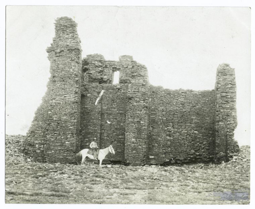 Ruins of old Spanish-Indian church