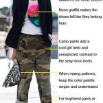 Camo Meets Neon: Tanya Ilieva's Unexpected Chic Look