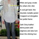 Gray and Silver: A Sleek Slenderizing Look from Zhou Xun