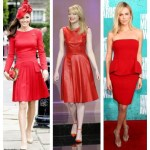 Pleats, Please; Peplum, Please; Perspex,Please (Three Trendy Red Dresses on Celebrities)
