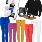 Ageless Ensemble–Colored Jeans and Sweatshirt