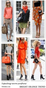 Fashion Week Street Style: Modern Orange