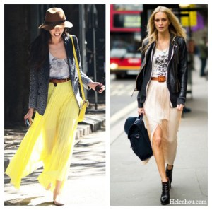 Take Your Favorite Summer Maxi Skirts Into Fall