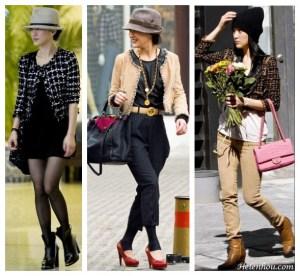 Three stylish ways to wear tweed jacket