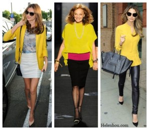 Brighten The Winter Days: Sunny Yellow Tops