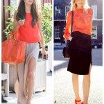 Summer Allure: Bright Orange & Side Slit