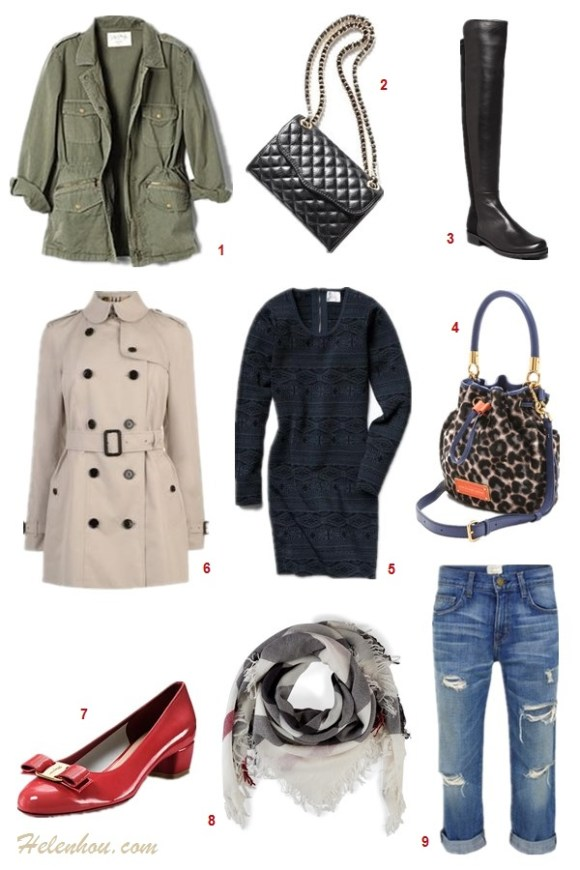 The art of accessorizing-Bloomingdale's friends family sale,army jacket, trench coat, leopard, lace dress, burberry, boots