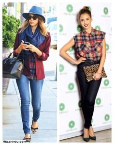 Fall Perfection: Plaid Shirt & Rich Shades