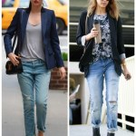Off Duty Chic: Structured blazer & Distressed Jeans