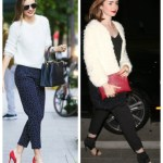 Winter White: Colorblock Coat & Red Accent