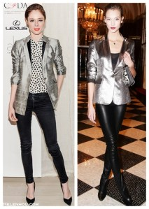 Girls' Night Out: Metallic Blazer & Bright Lip