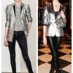 Girls' Night Out: Metallic Blazer & Bright Lip