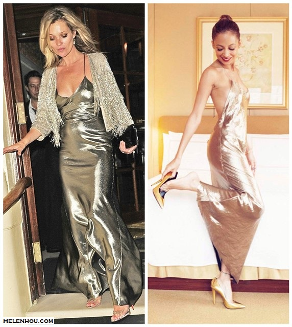 How to wear the metallic fashion trend; night out outfits 2014