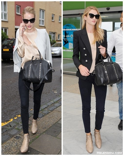 Models off Duty looks 2014; blazer and jeans;