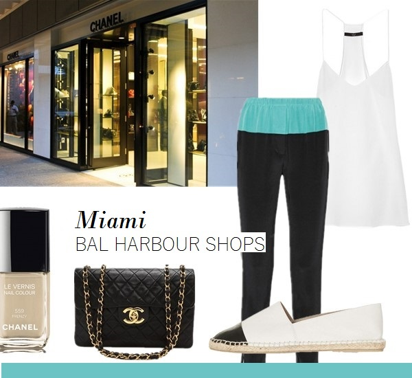 vacation outfit ideas From left to right: Chanel nail color in 'Frenzy' (my favorite nude color!) Chanel Jumbo Flap Bag Topshop KOALA ESPADRILLE SHOES (more colors here)  3.1 Phillip Lim Two-tone silk track pants (on sale! similar here & here) Tibi Silk crepe de chine camisole (also here)