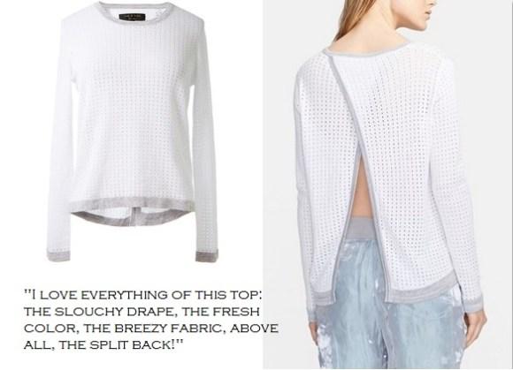 rag & bone 'Arianna' Pointelle slip back Sweater