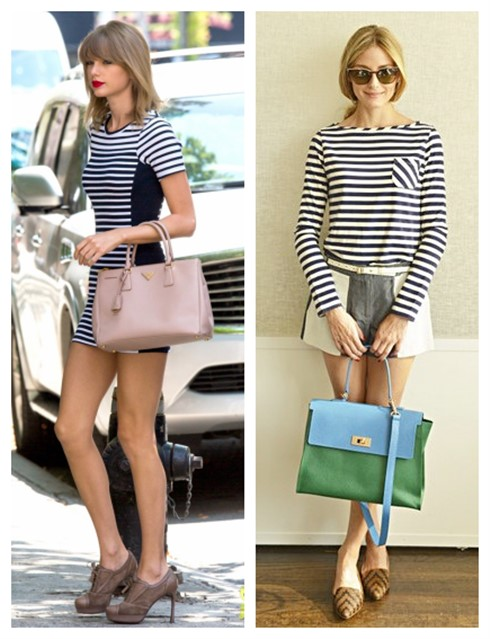 How to wear stripes, celebrity street style  2014; spring/summer outfit ideas,