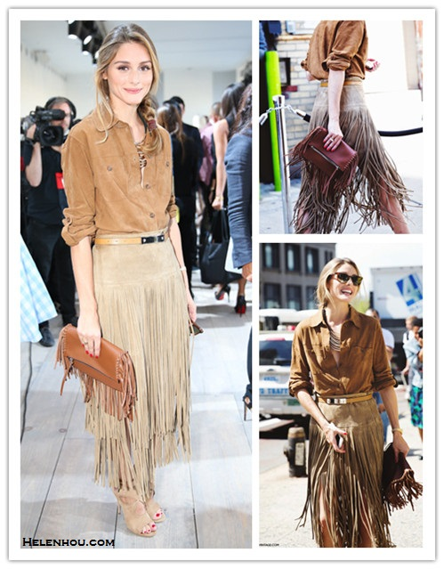 Celebrity street style, western trend.