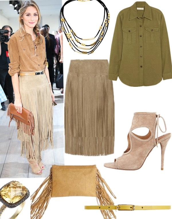 Celebrity street style, western trend