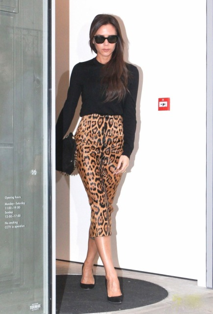 Victoria Beckham pays visit to her brand new store in London **USA ONLY**