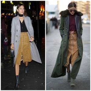 70s: Suede Skirt & Fling Coat