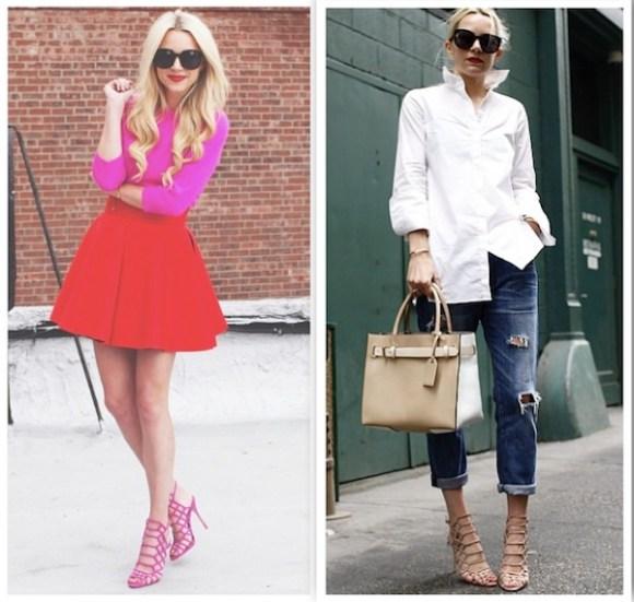 fashion blogger atlantic pacific blair eadie wears Schutz Juliana Caged Sandals