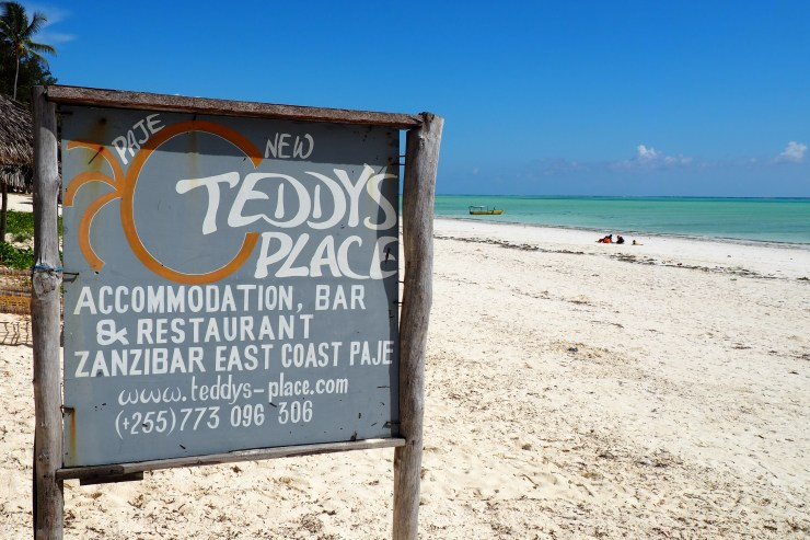 New Teddy's Place in Paje, Zanzibar. Kenya and Tanzania Itinerary.
