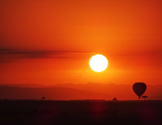 Sunrise over the Masai Mara.