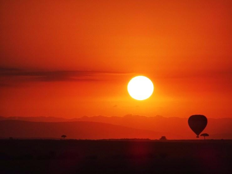 Sunrise over the Masai Mara.