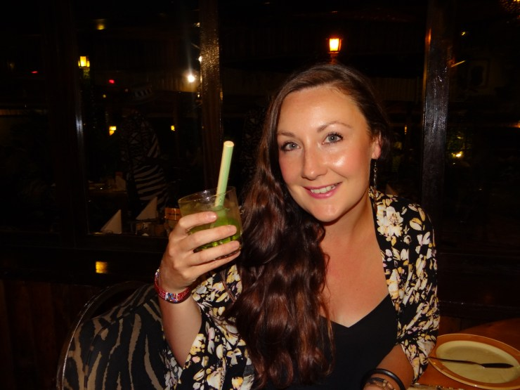 Dawa cocktail at Carnivore Restaurant in Nairobi.
