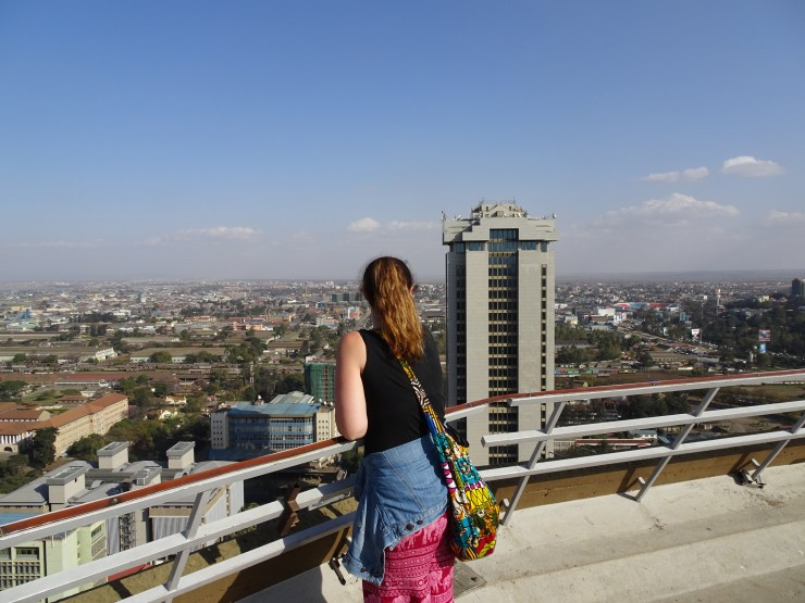 View from the top of the KICC Nairobi