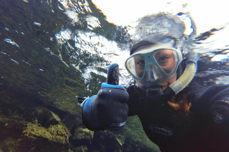 Snorkelling the Silfra Fissure in Iceland