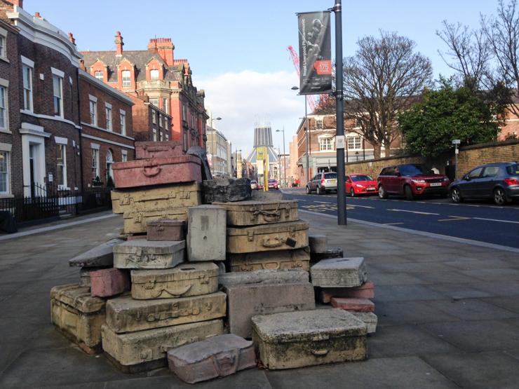 Suitcases Sculpture Liverpool