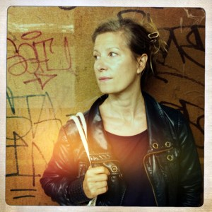 Color polaroid Portrait of Helen Jones-Florio - Subway, West 4th St, NYC - Bio image © Jason Florio