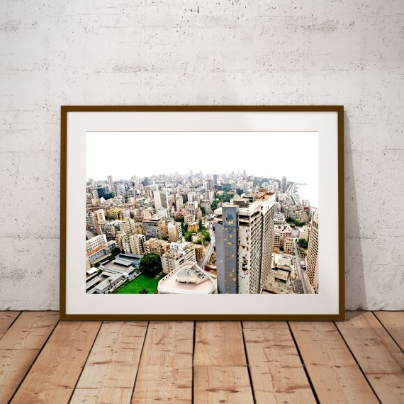 'BEIRUT HOLIDAY INN'- © Jason Florio-color most bombed hotel in Beirut, cityscape