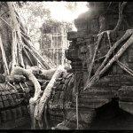 ©Jason Florio - Angkor Wat #3, Cambodia. BW - temple ruins