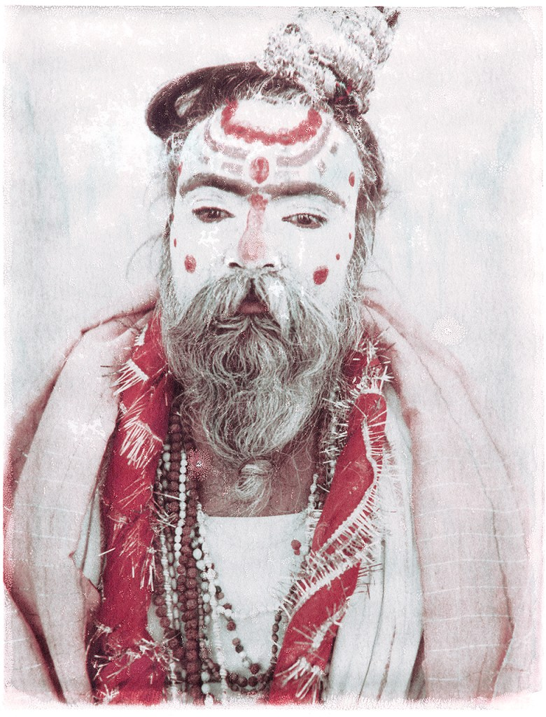 Exhibition News Oskar Landi - Polaroid image of a Sardhu, holy man, India