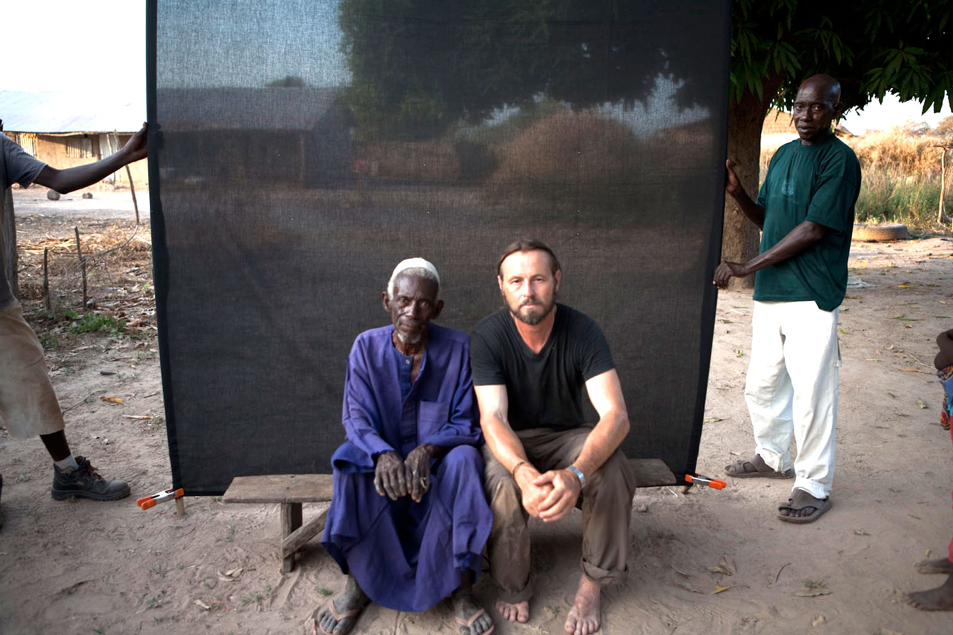 FLORIO_WITH_ALKALO (VILLAGE CHIEF)_THE GAMBIA, WEST AFRICA ©HELEN JONES-FLORIO
