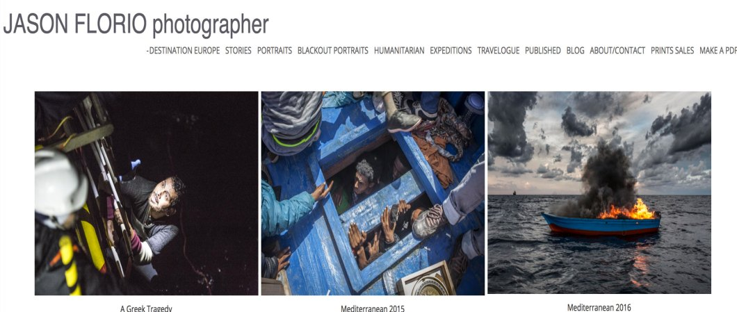 DESTINATION EUROPE - PHOTOGRAPHY BY JASON FLORIO. MIGRANT & REFUGEE RESCUES AT SEA