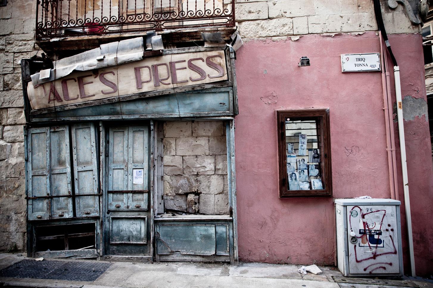 Wabi Sabi - Facades & Store Fronts, Malta - Paces Press, Gzira ©Helen Jones-Florio