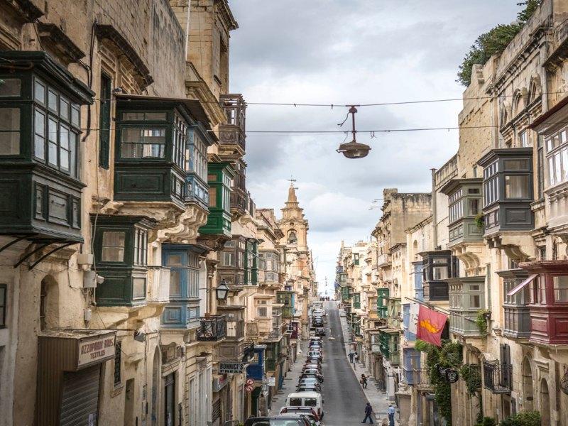 View towards Fort St Elmo, Old Bakery Street, Valletta © Jason Florio for Monocle Magazine, Aug 2018