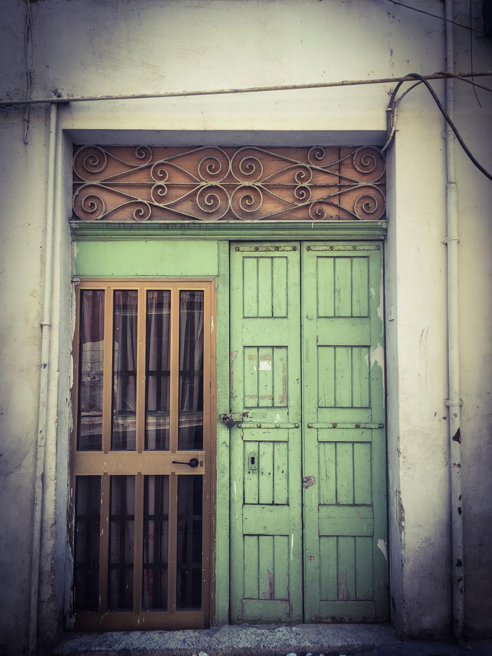 disappearingMalta - The new and the old doors, Sqaq Borton, Pieta, Malta ©Helen Jones-Florio photography prints