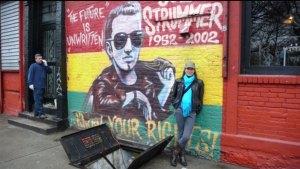Helen Jones-Florio , 'with' Joe Strummer, East Village, NYC, 2008