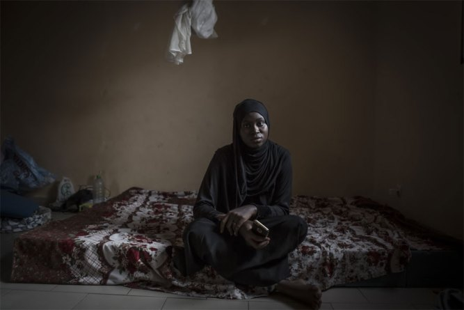GoFundMe Jason Florio - Fatoumatta Sandeng, daughter of murdered Gambia opposition party member, Solo Sandeng. She escaped into exile in Senegal after her father's murder in 2016 at the hands of Jammeh's security services, fearful they would be targeted next. A year after her father's murder, and Jammeh's exile, the perpetrators came forth and disclosed the secret forest grave of her father ©Jason Florio